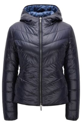 Regular-fit jacket in water-repellent fabric, Dark Blue