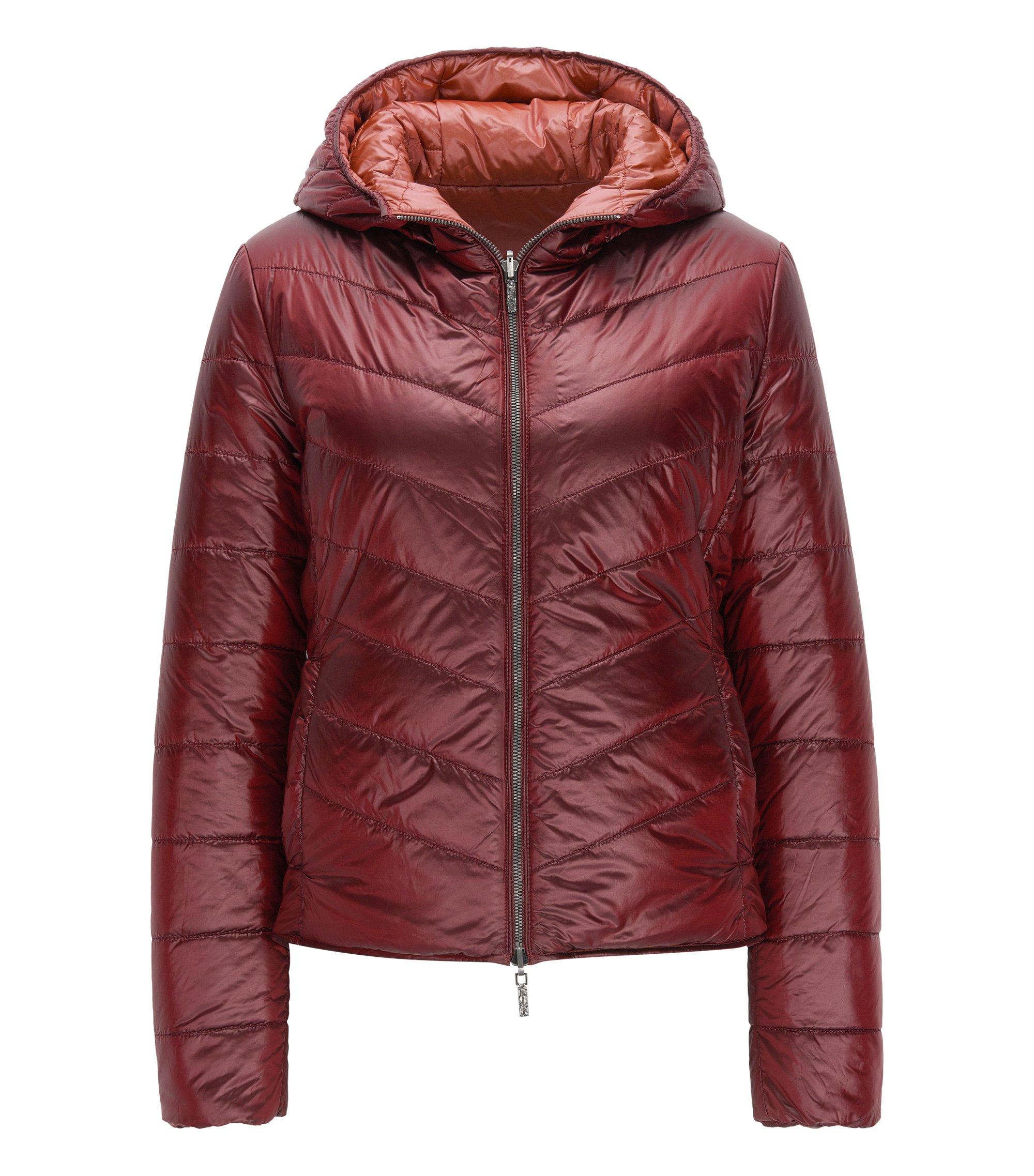 Regular-fit jacket in water-repellent fabric, Dark Red
