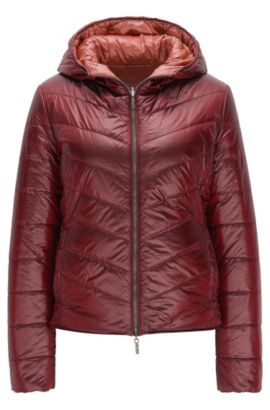Regular-fit jacket in water-repellent fabric, Dark Red