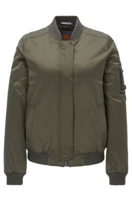 Lightweight bomber jacket in a cotton blend, Khaki