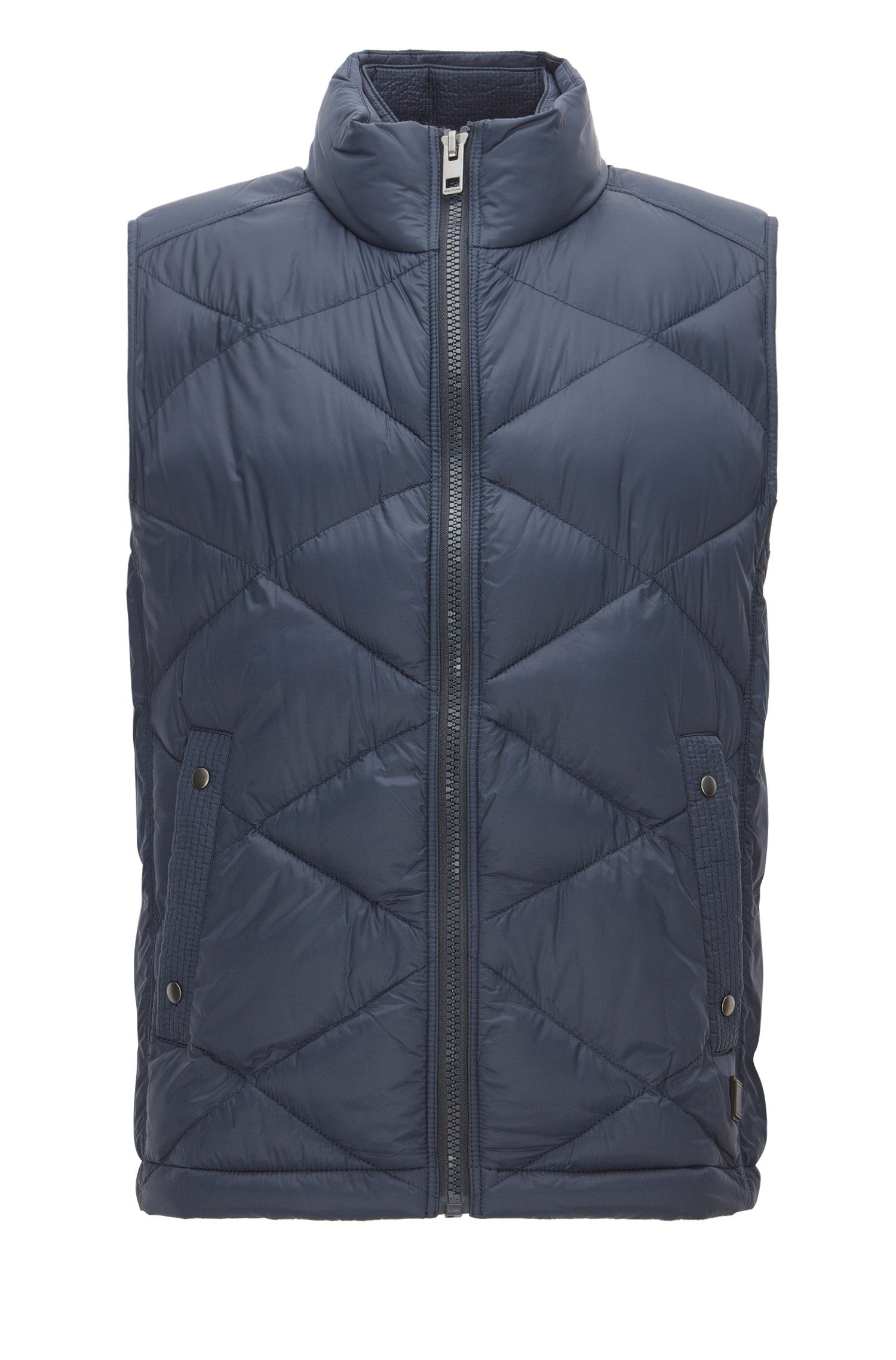 Regular-fit bodywarmer van waterafstotend materiaal