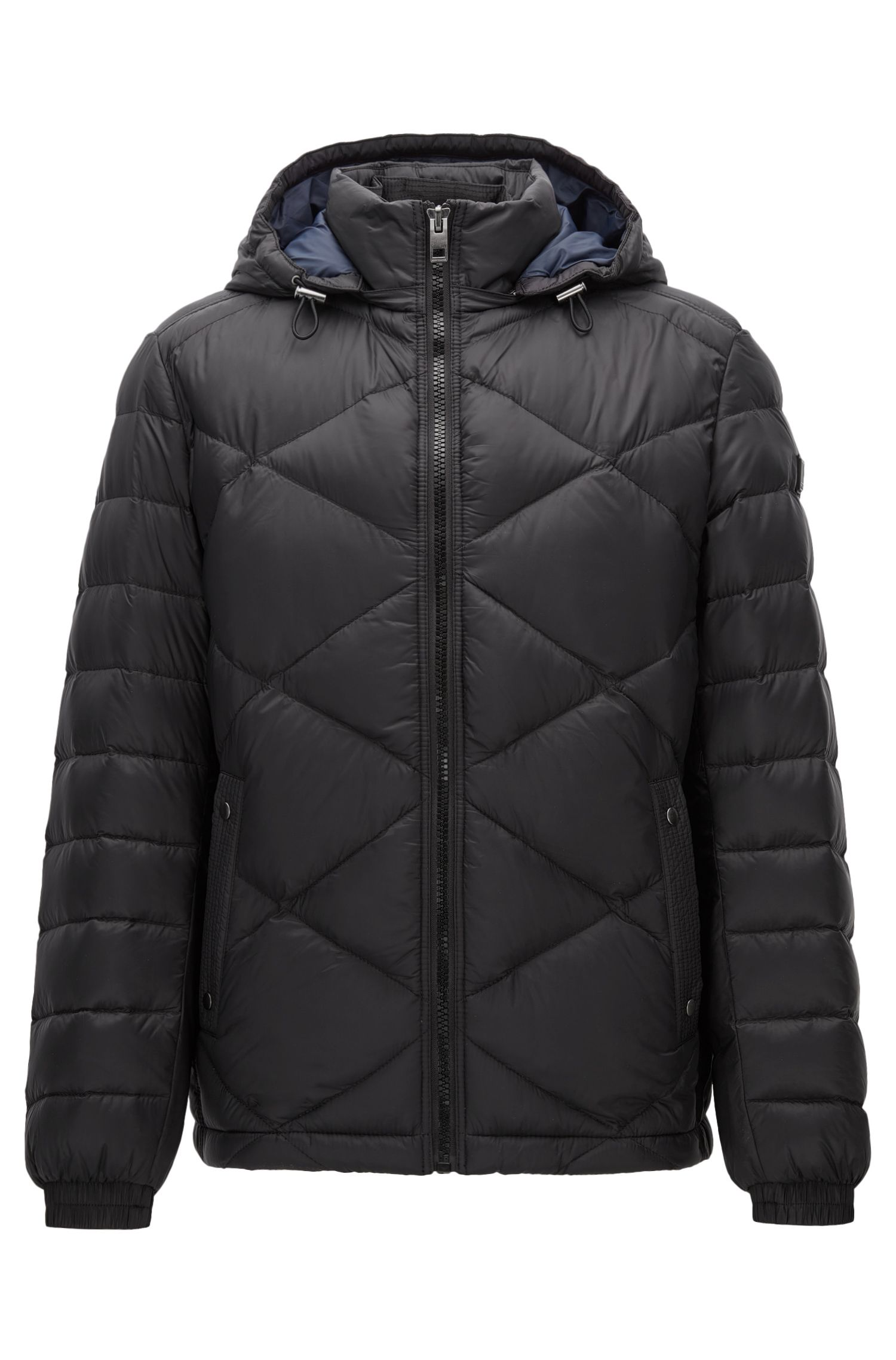Regular-fit jas van waterafstotend materiaal