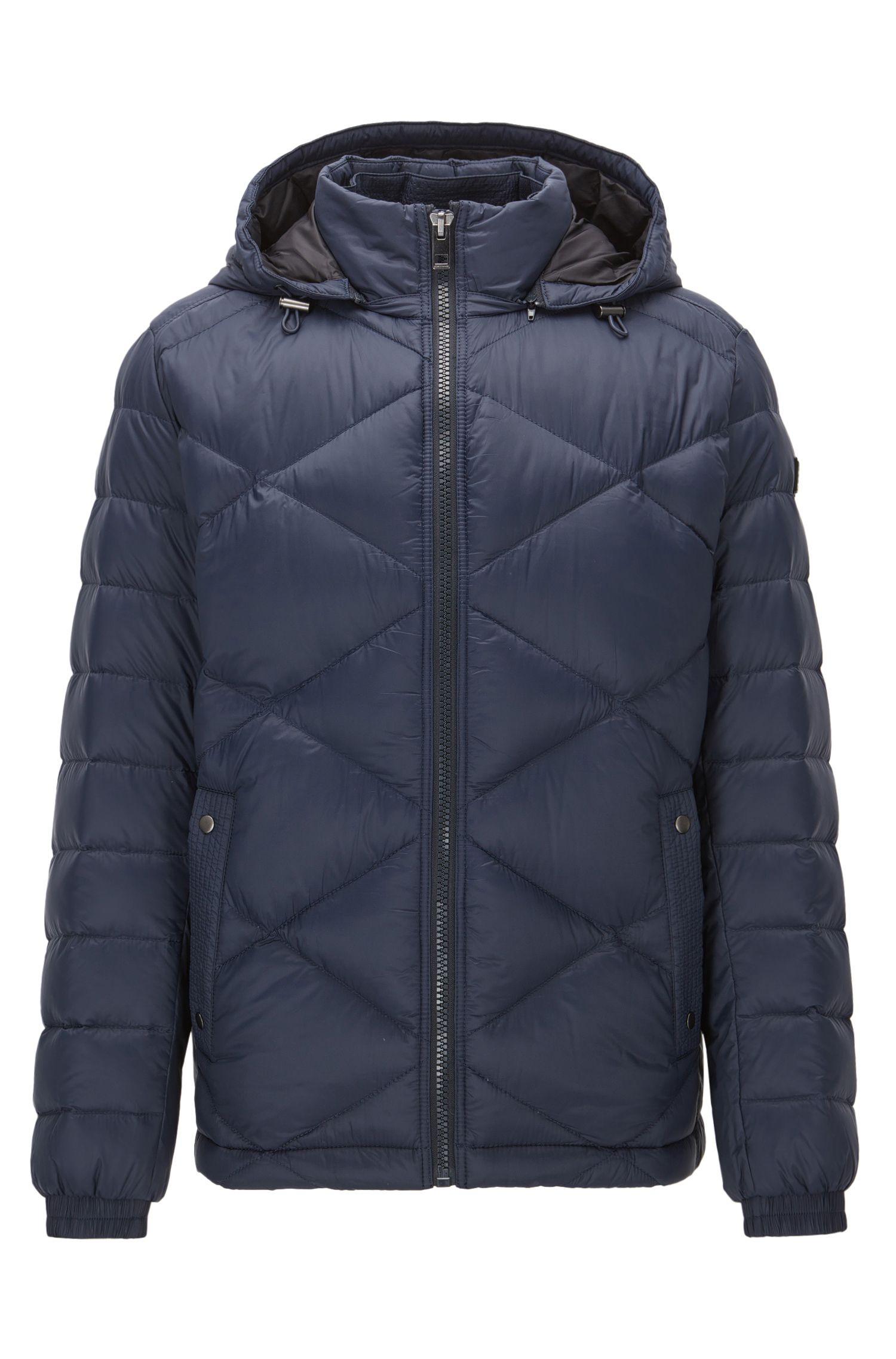 Regular-fit jacket in water-repellent fabric