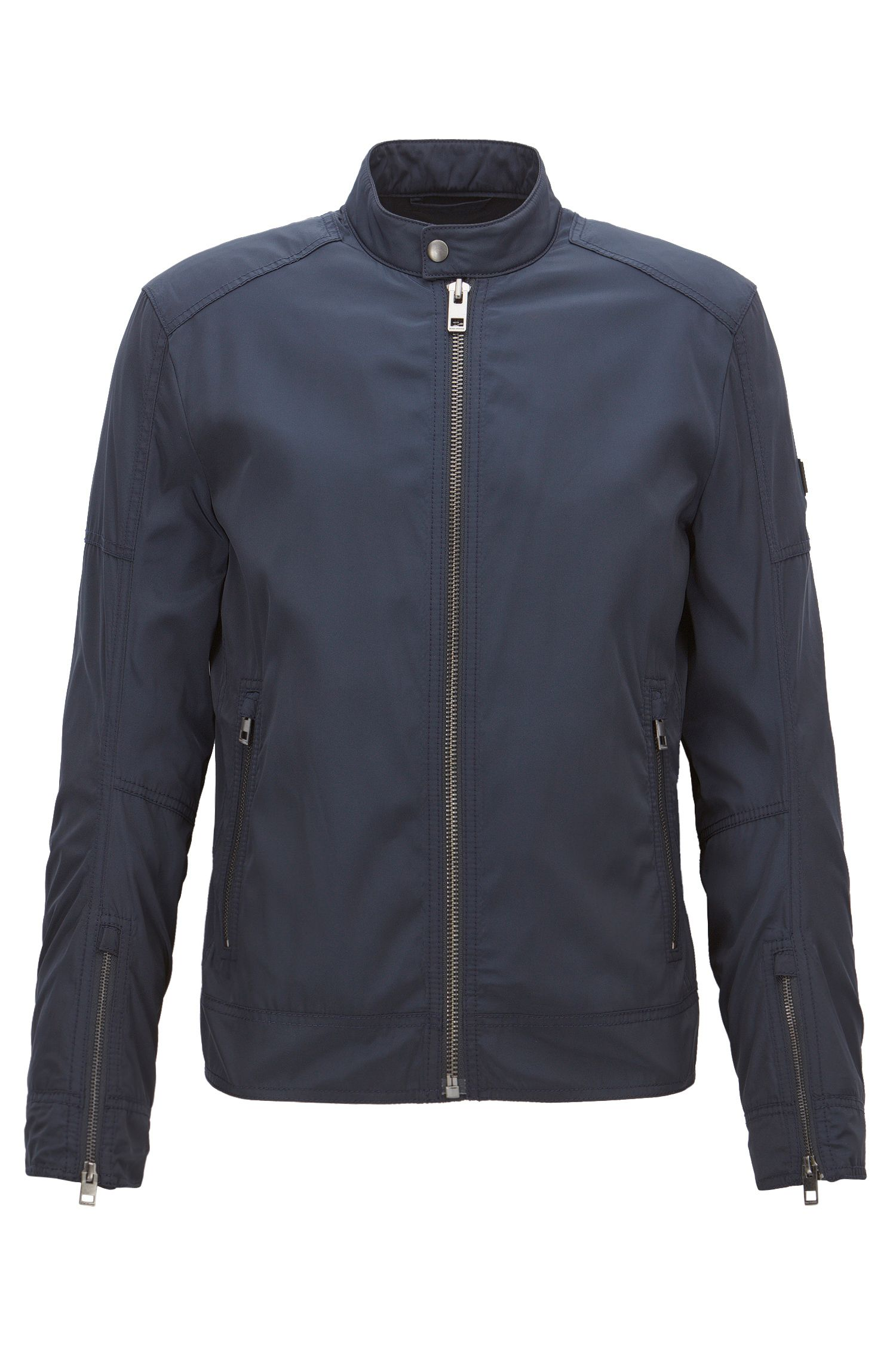 Slim-fit jacket in water-repellent fabric