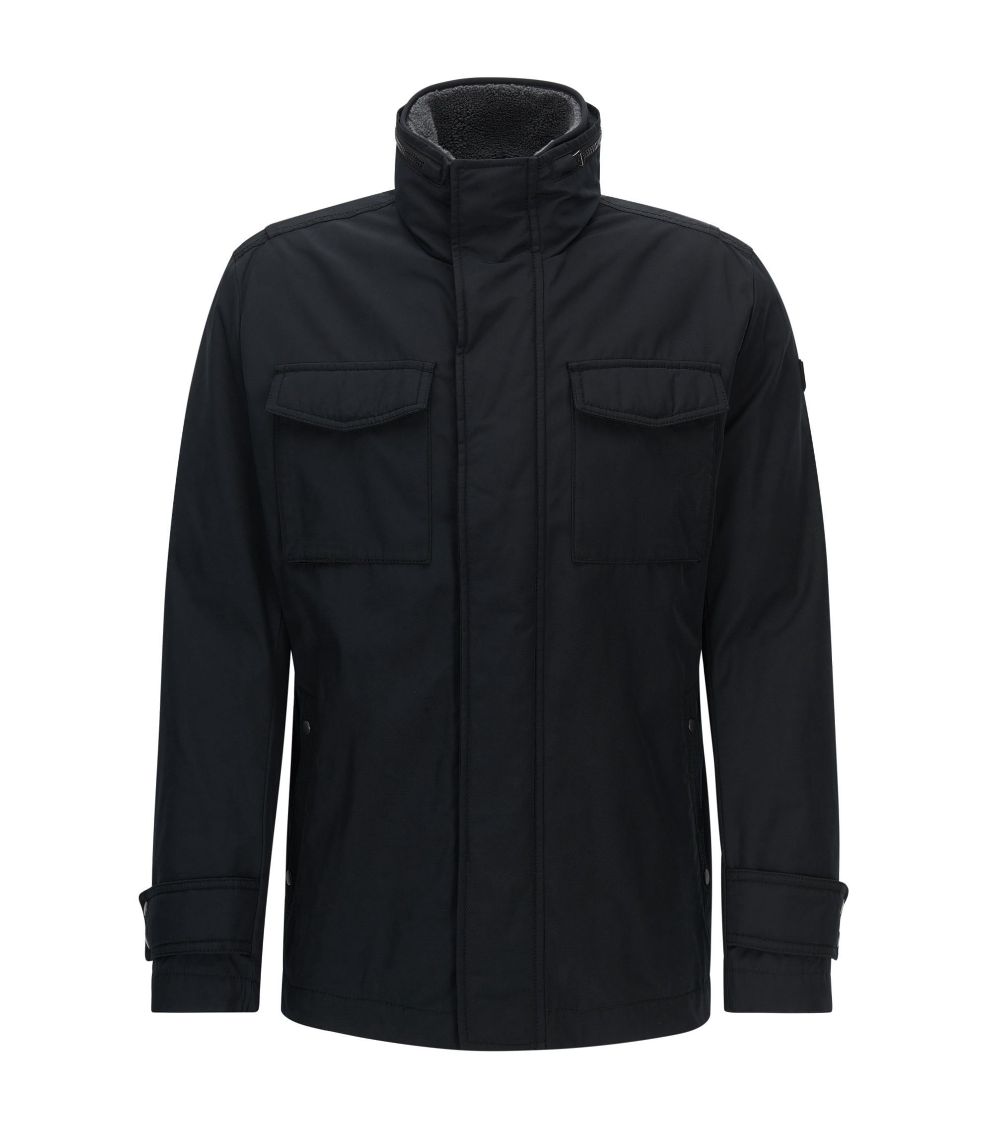 Veste Regular Fit avec finition hydrofuge , Noir