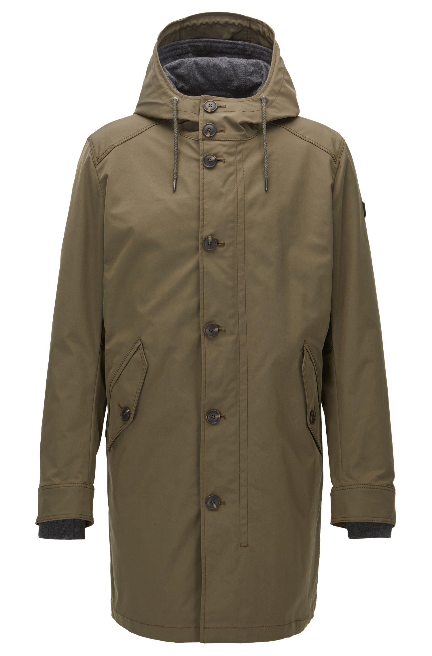 Regular-fit parka van waterafstotende twill