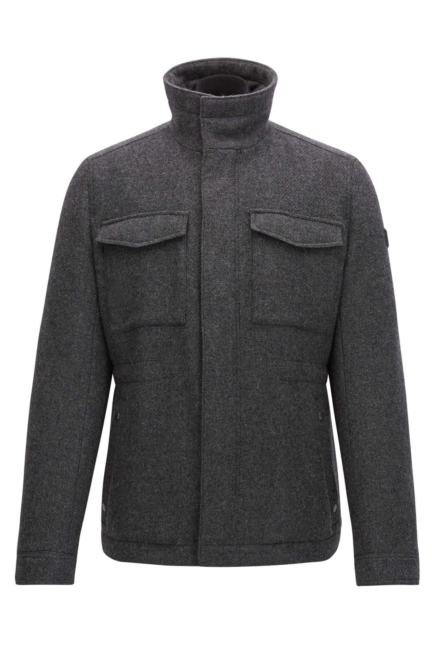 Regular-Fit Jacke aus Woll-Mix