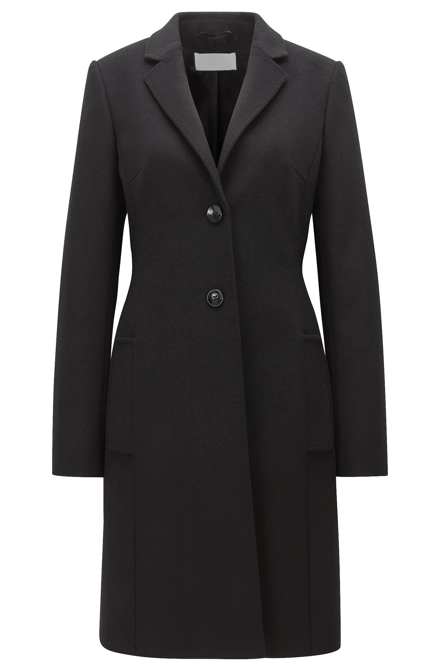 Regular-fit wool and cashmere coat