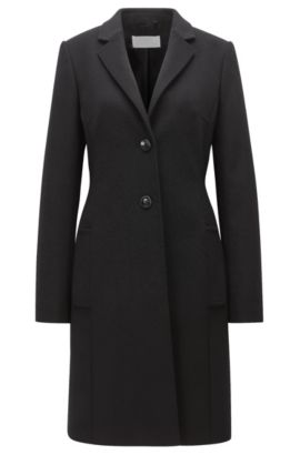 Cappotto regular fit in lana e cashmere, Nero