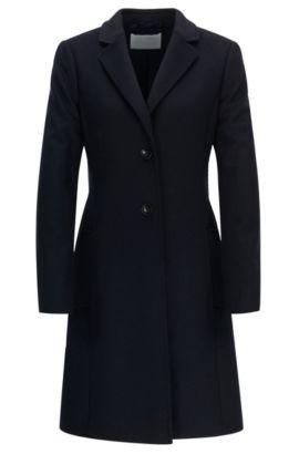 Cappotto regular fit in lana e cashmere, Blue Scuro