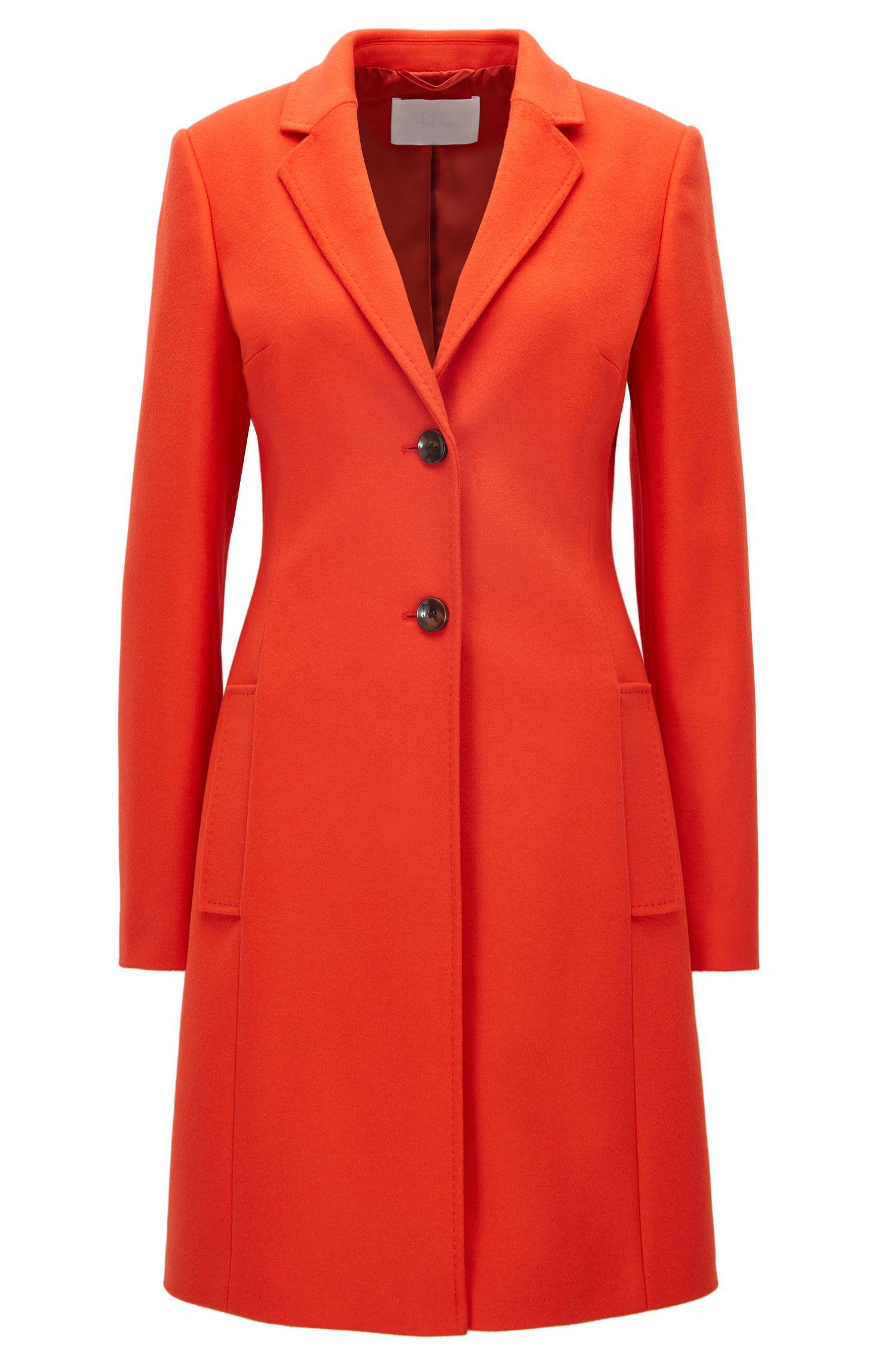 Regular-fit mantel van wol en kasjmier
