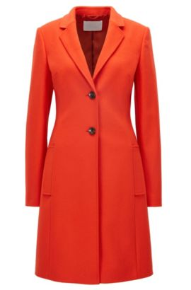 Manteau Regular Fit en laine et cachemire, Rouge