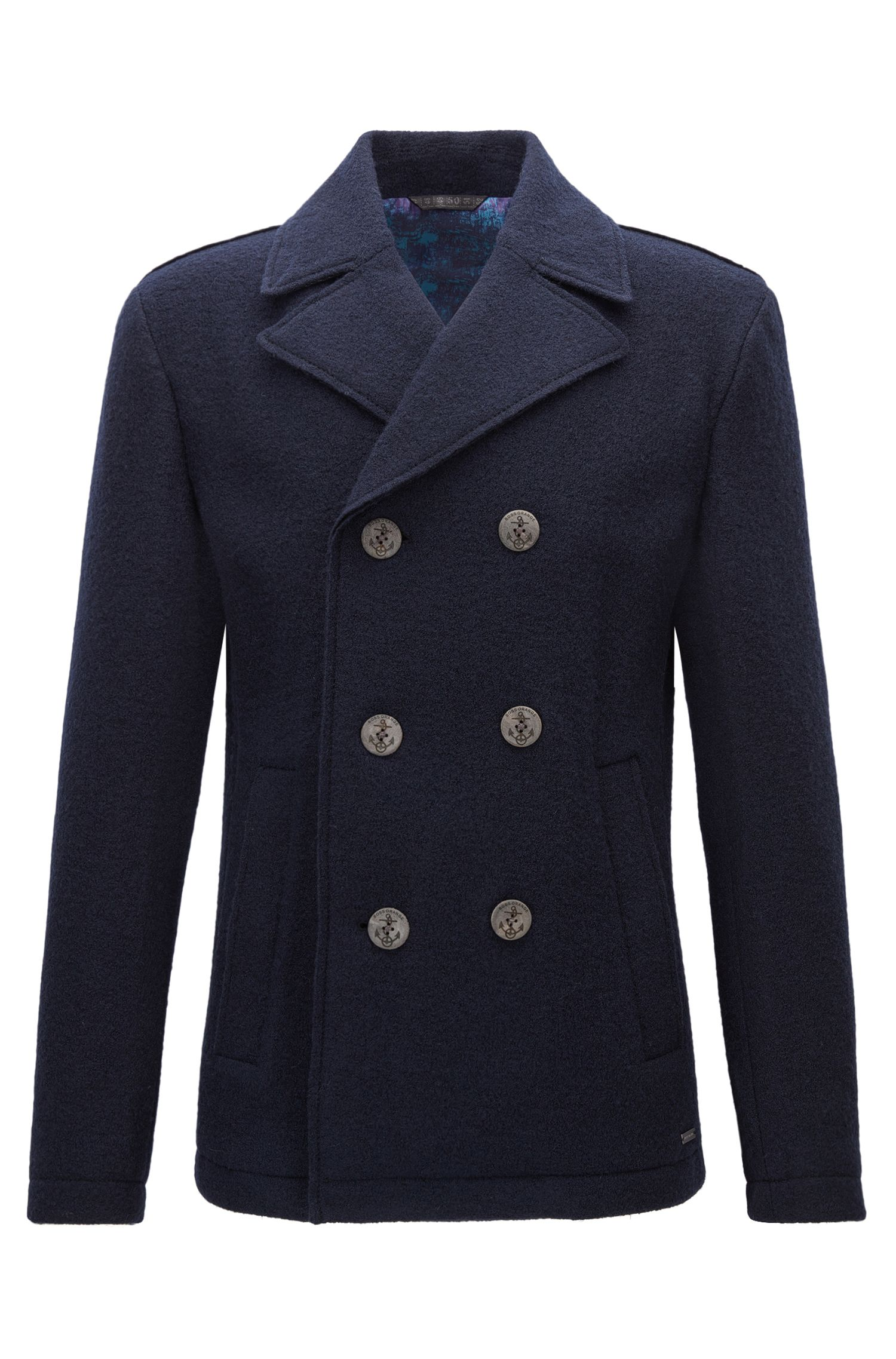Regular-fit double-breasted jacket in wool
