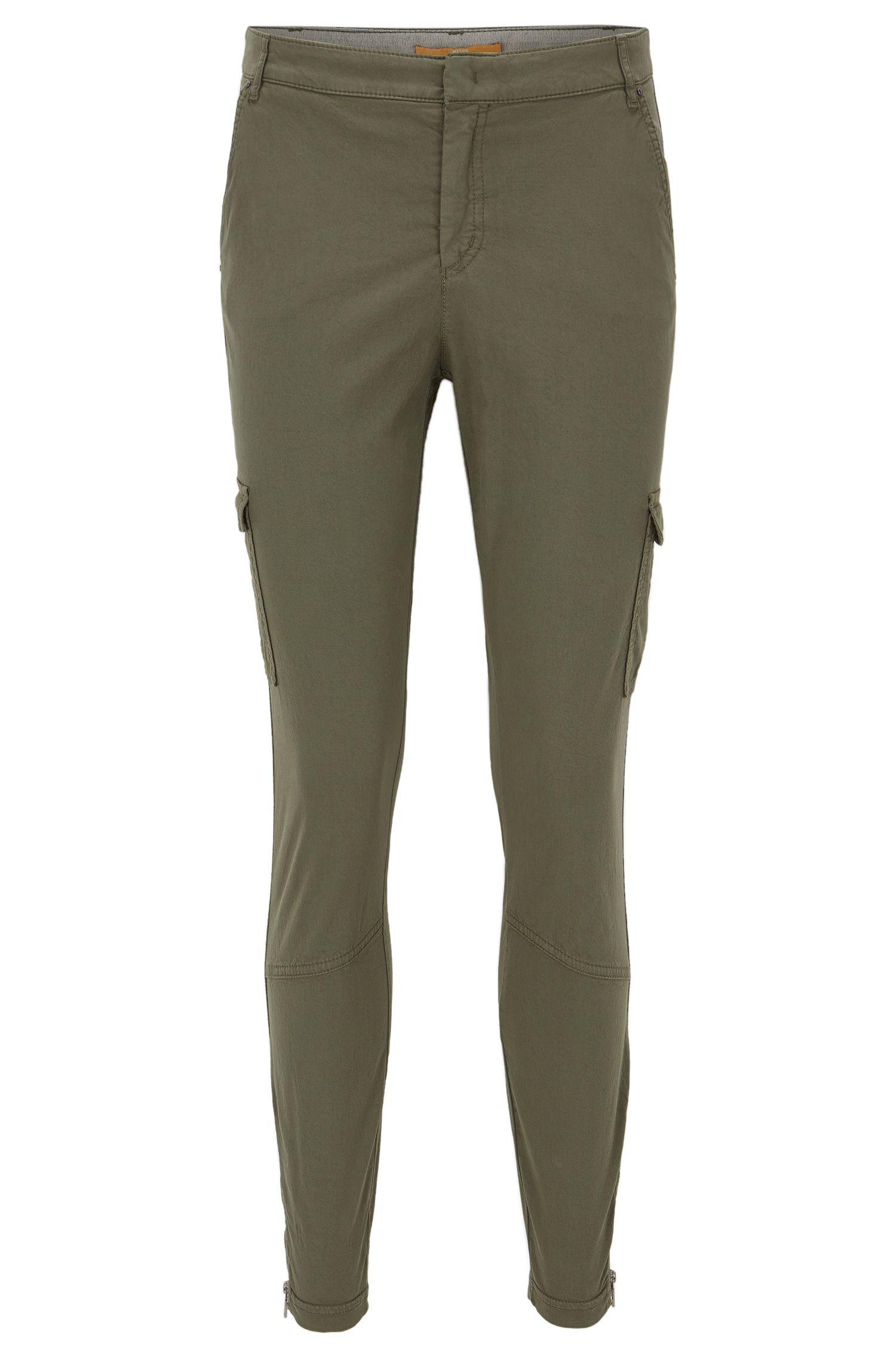 Pantalon cargo Slim Fit en coton mélangé