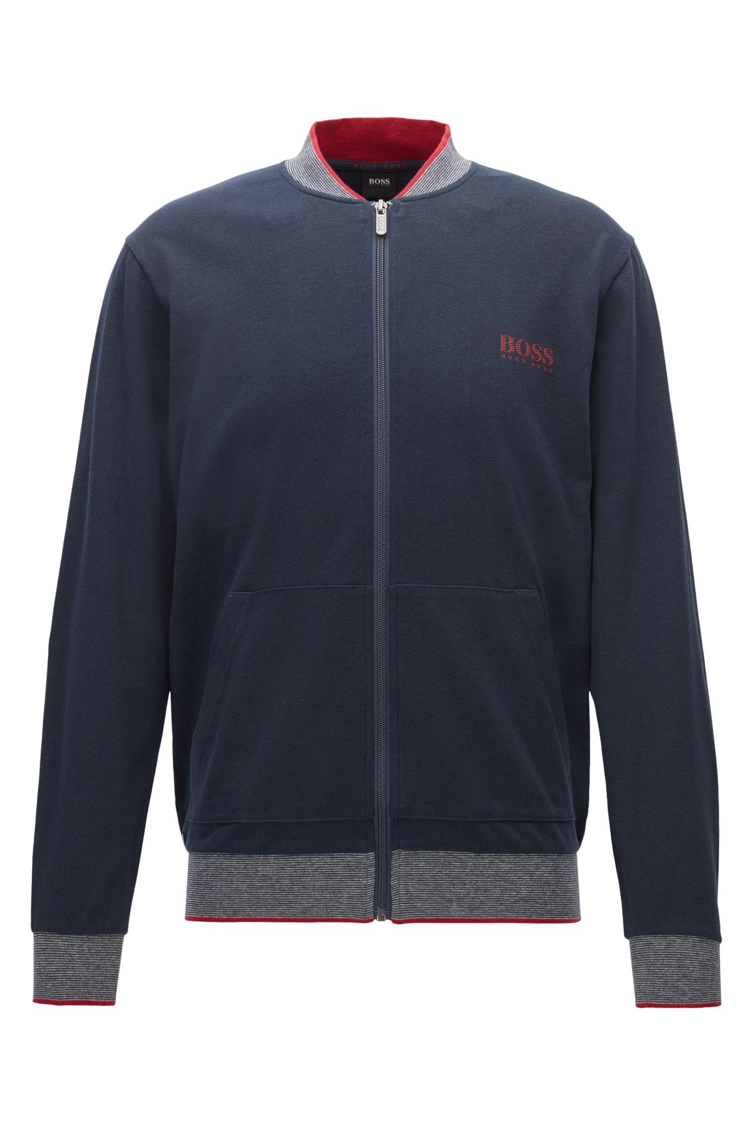 Regular-Fit Loungewear-Jacke aus Baumwolle