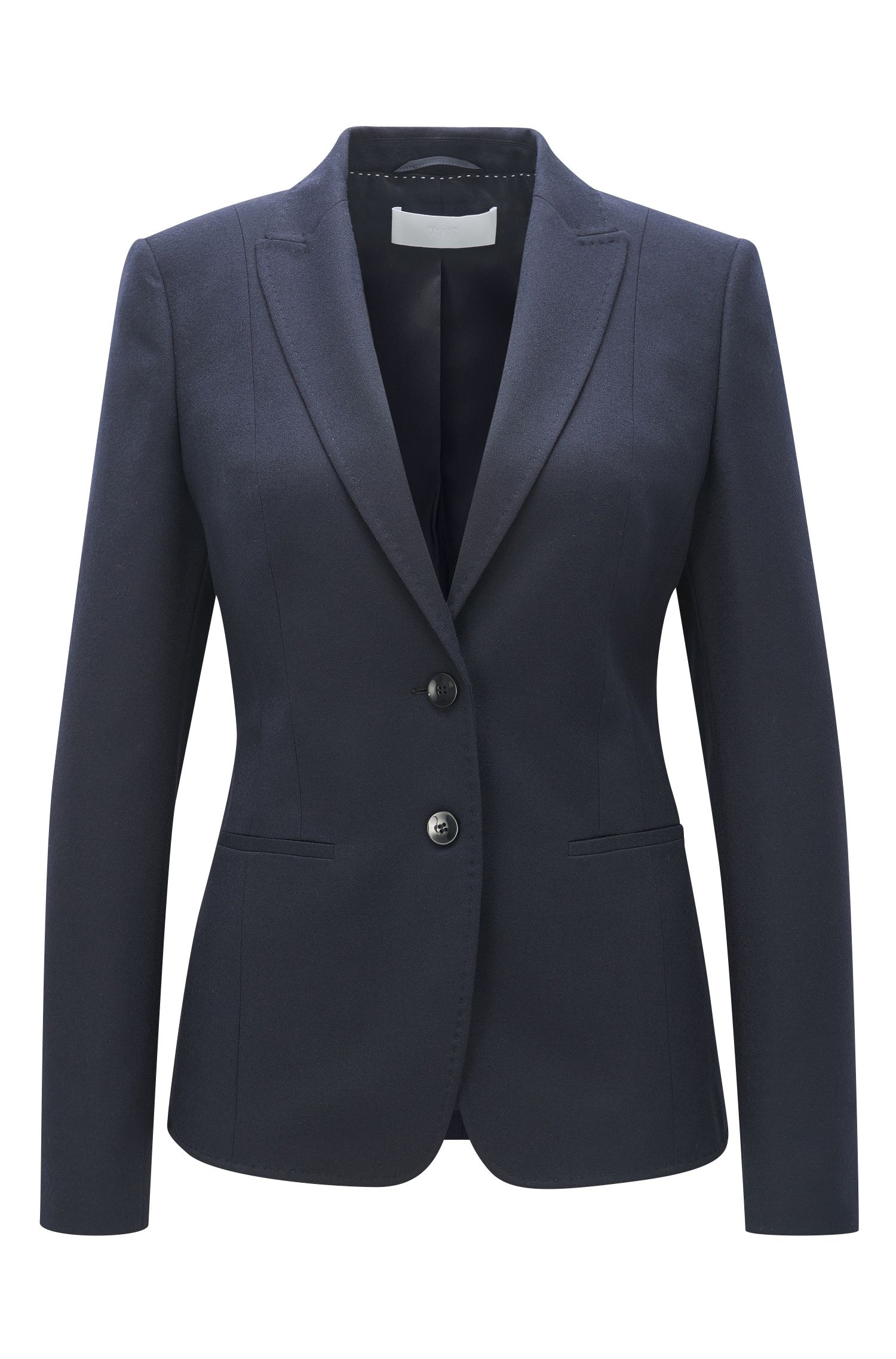 Regular-Fit Blazer aus Stretch-Flanell