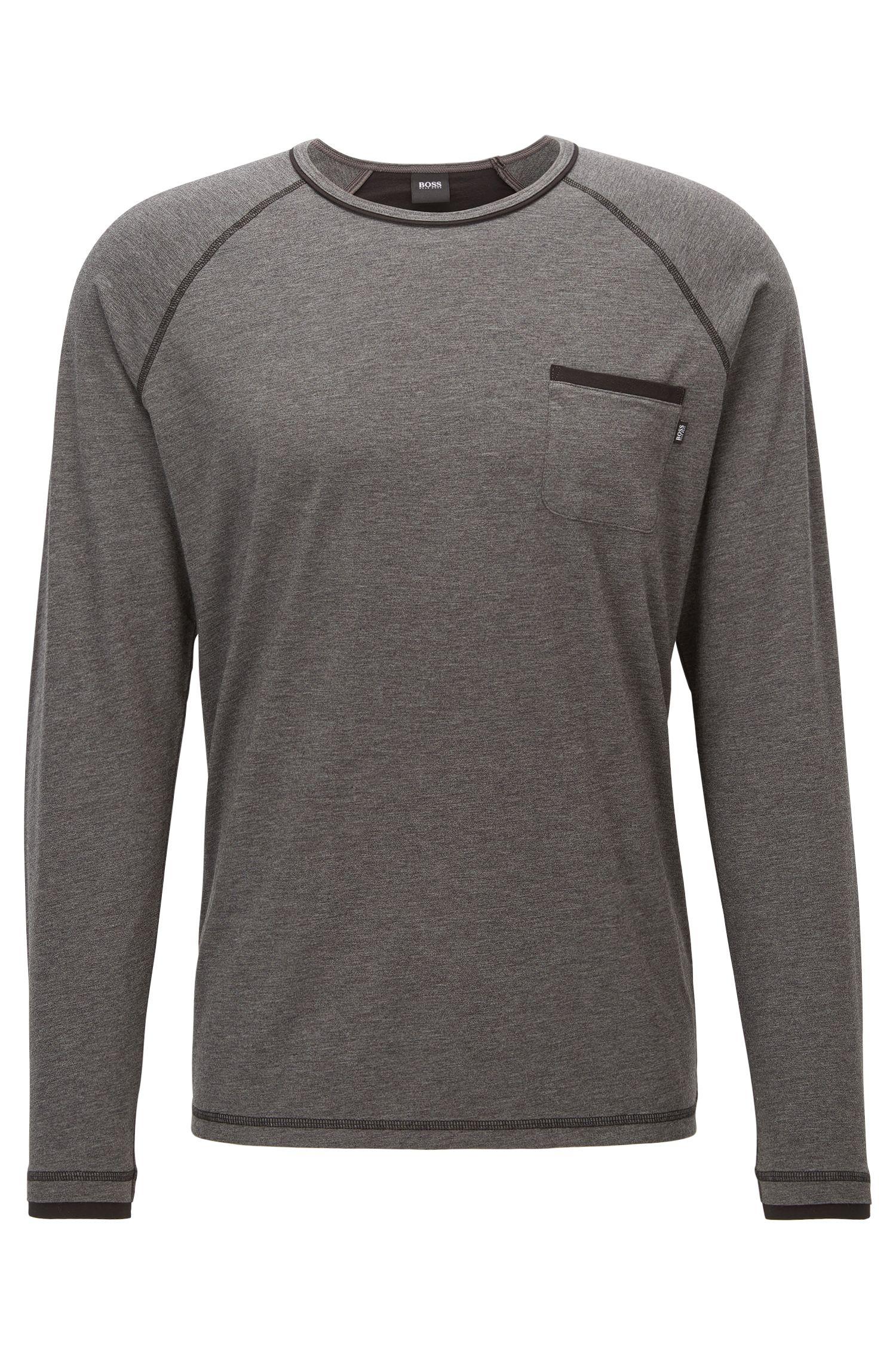 Camiseta de pijama en tejido de punto en mezcla de algodón