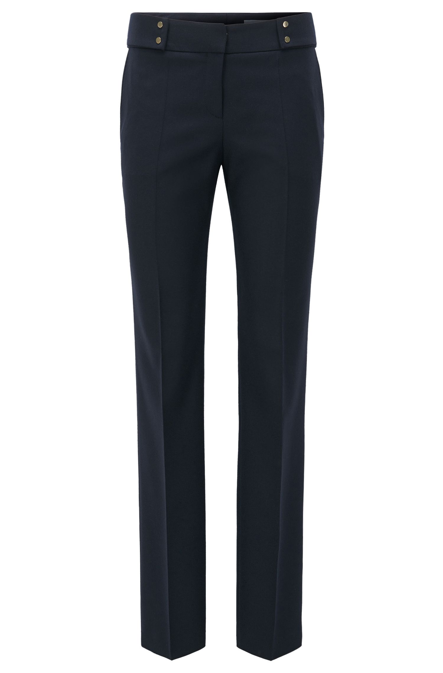 Straight-leg trousers in a wool mix