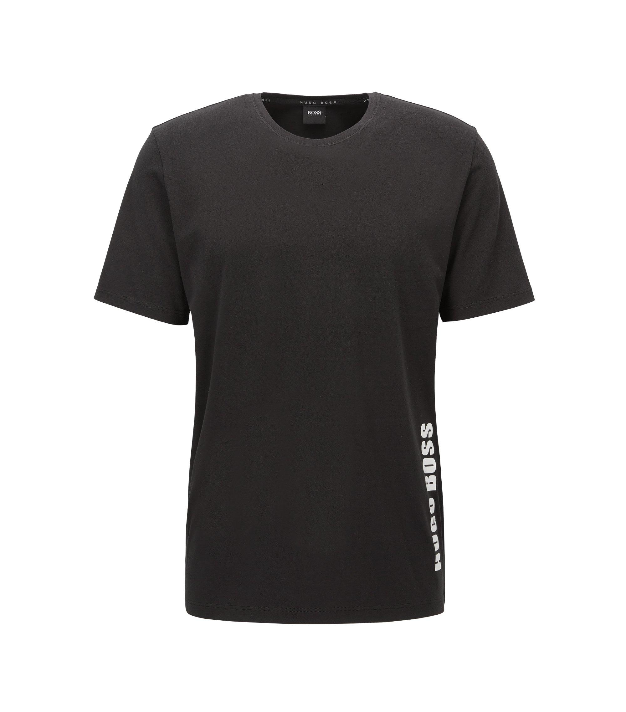 T-shirt de pyjama Regular Fit en jersey simple , Noir