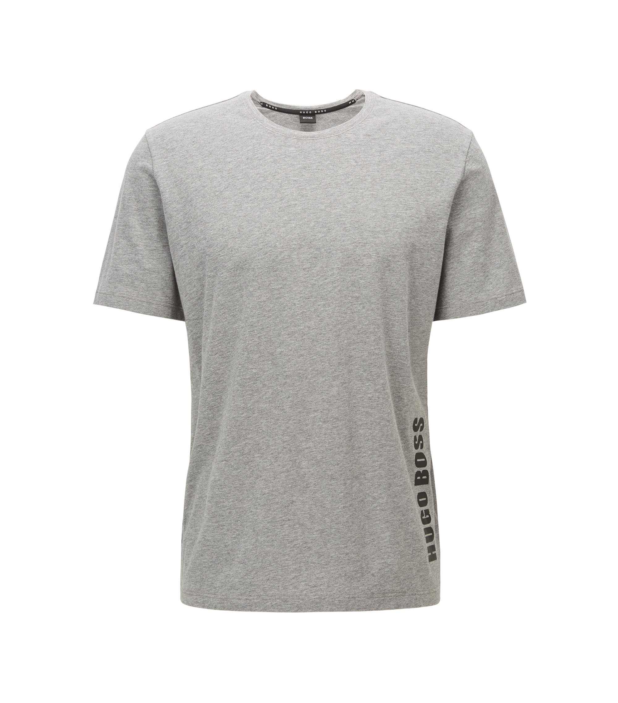 Regular-fit pyjama T-shirt in single jersey , Grey