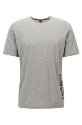 Regular-fit pyjama-T-shirt van single jersey , Grijs