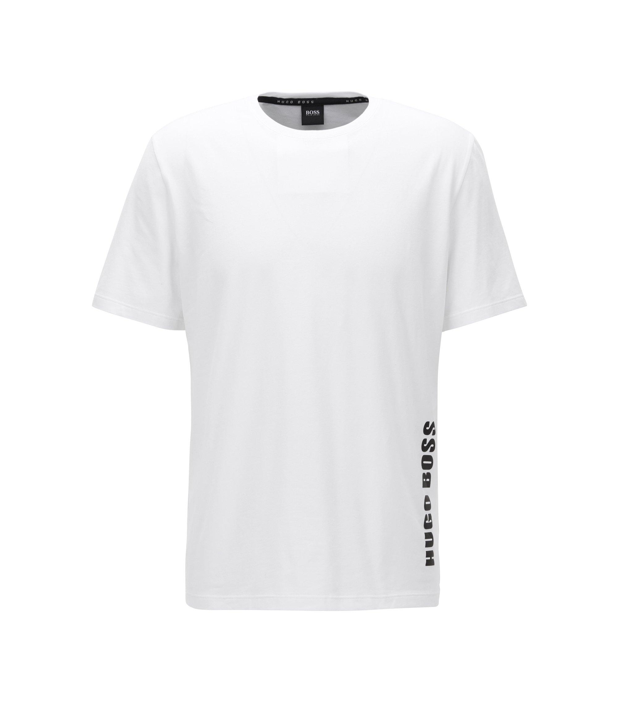 Regular-Fit Pyjama-Shirt aus Stretch-Baumwolle , Weiß