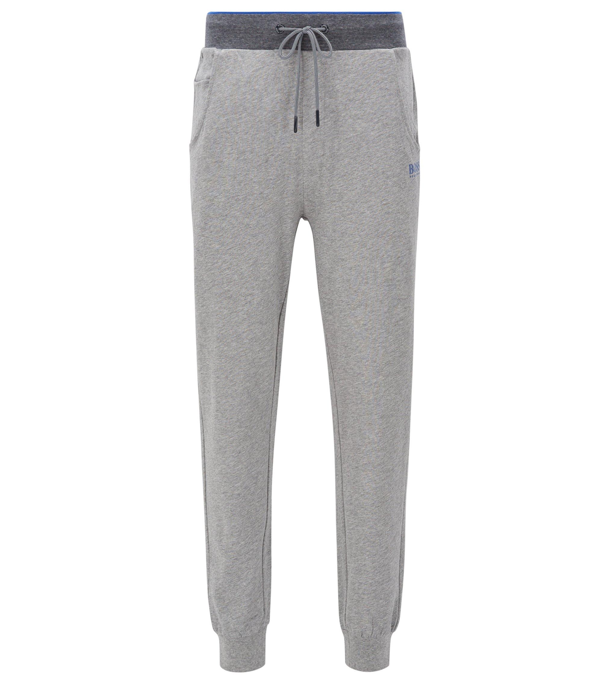 Jogginghose aus Baumwoll-Jersey mit Bündchen, Grau