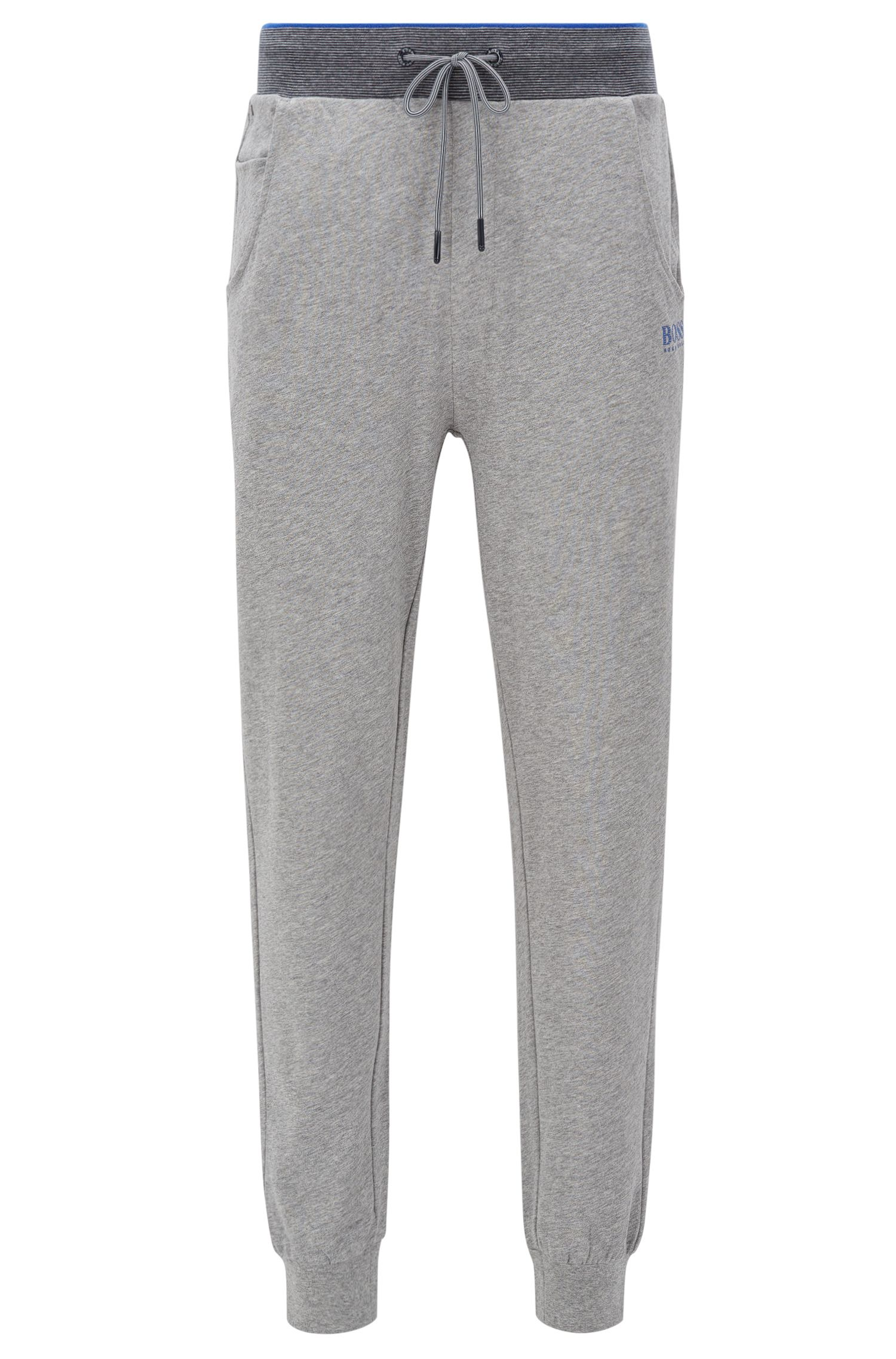 Cuffed jogging bottoms in cotton jersey