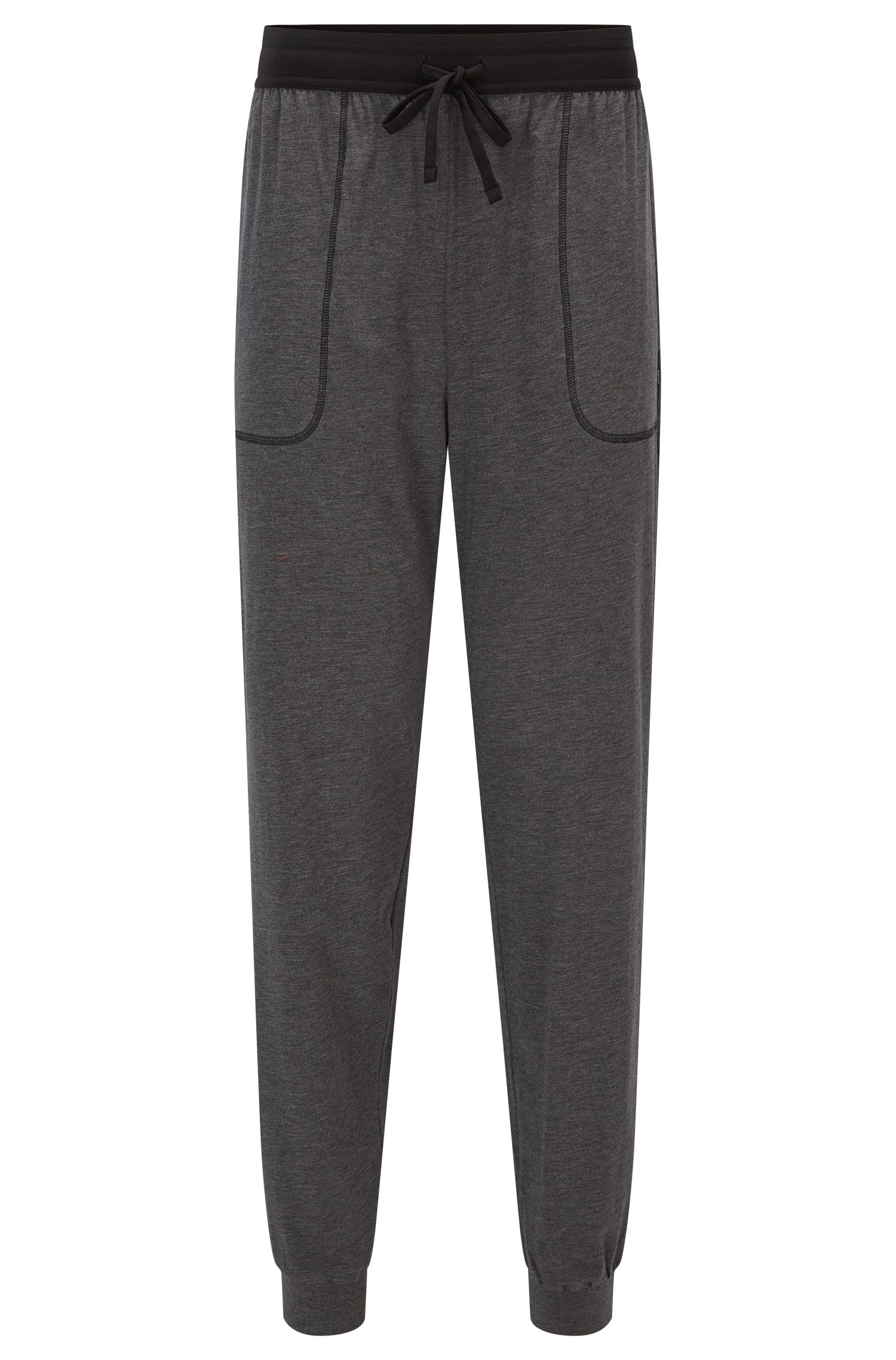 Pyjama trousers in cotton-blend jersey