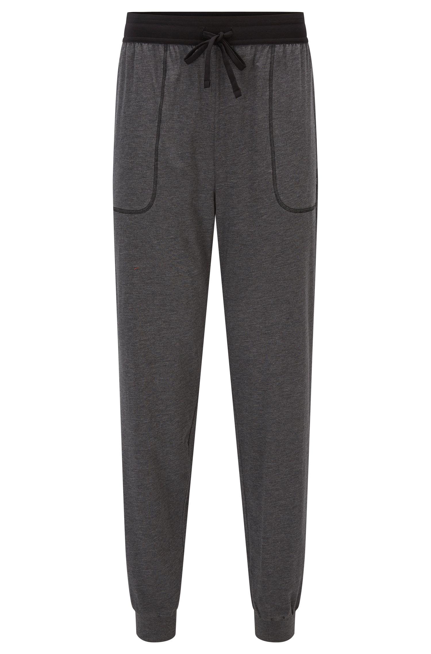 Pantalones de pijama en una mezcla de punto de algodón