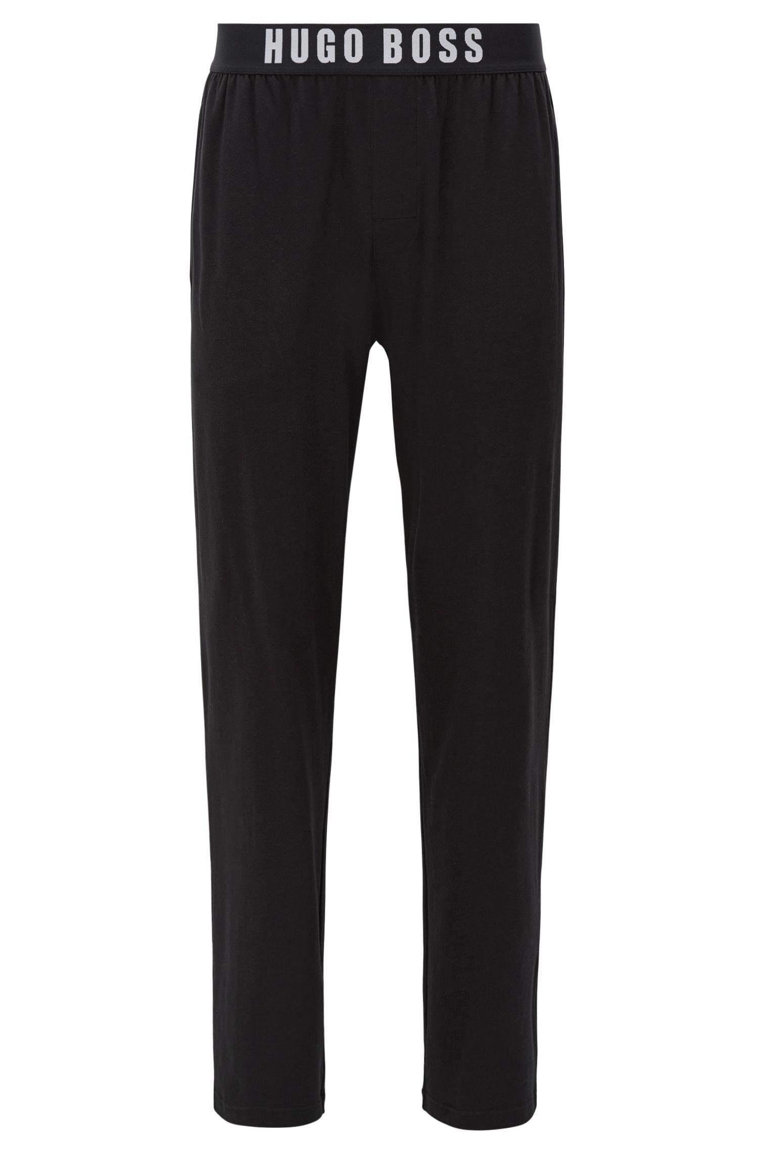 Pyjamabroek van stretchkatoen met elastische tailleband