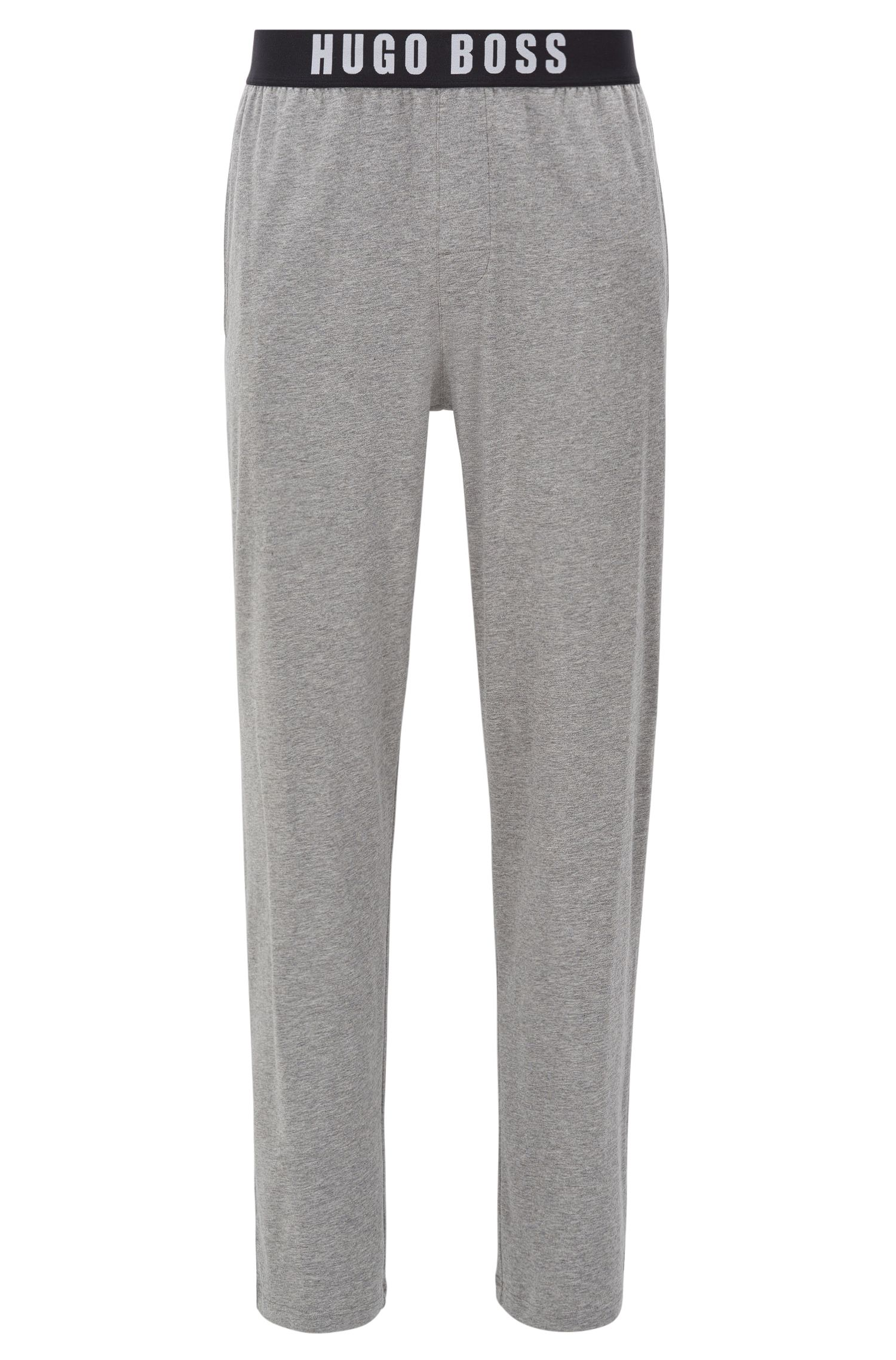Stretch cotton pyjama bottoms with elasticated waistband