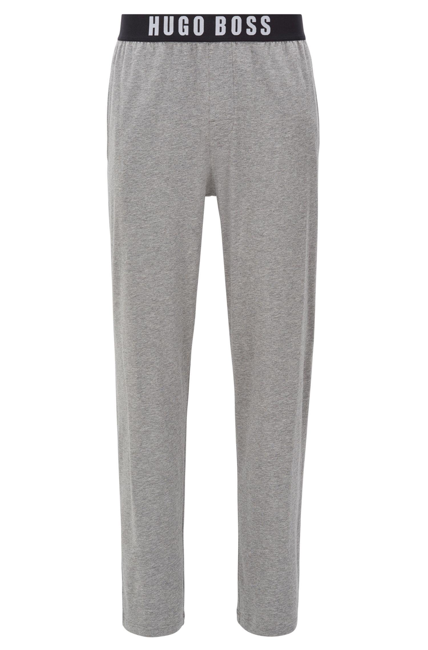 Pyjama-Hose aus Stretch-Baumwolle mit elastischem Bund