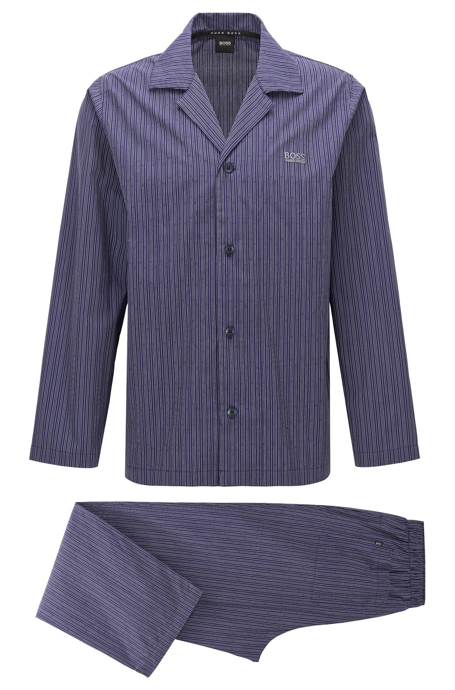 Striped pyjamas in cotton poplin