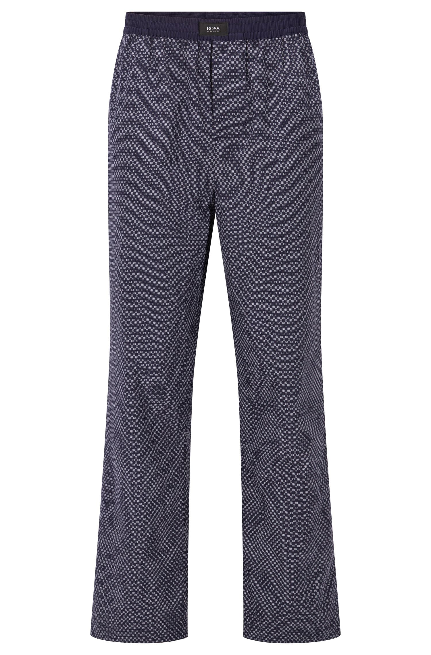 Pyjama bottoms in printed cotton