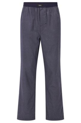 Bedruckte Pyjama-Hose aus Baumwolle, Flieder