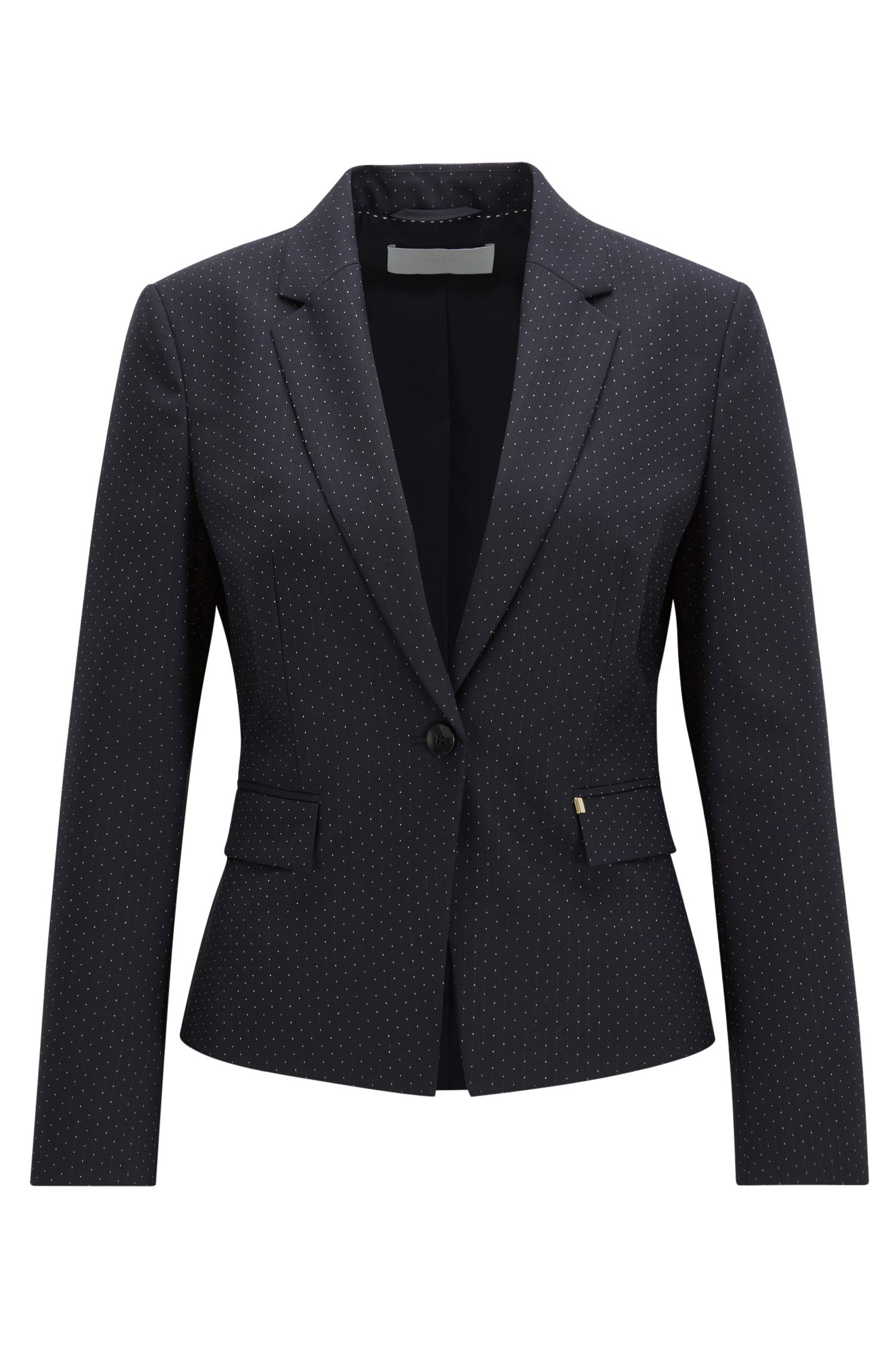 Regular fit jacket in virgin wool mix