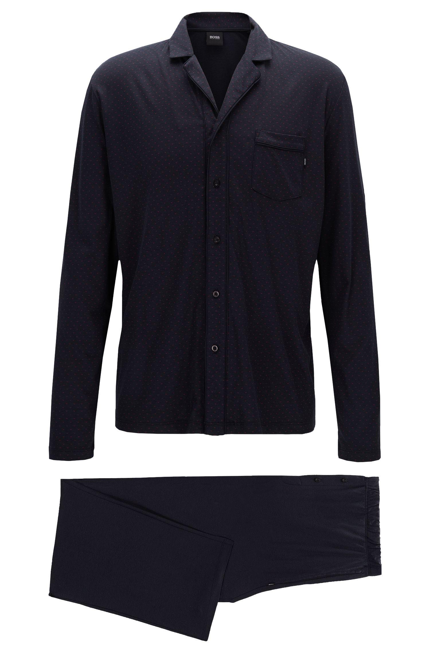 Pyjama à motif en jersey simple de coton et de modal