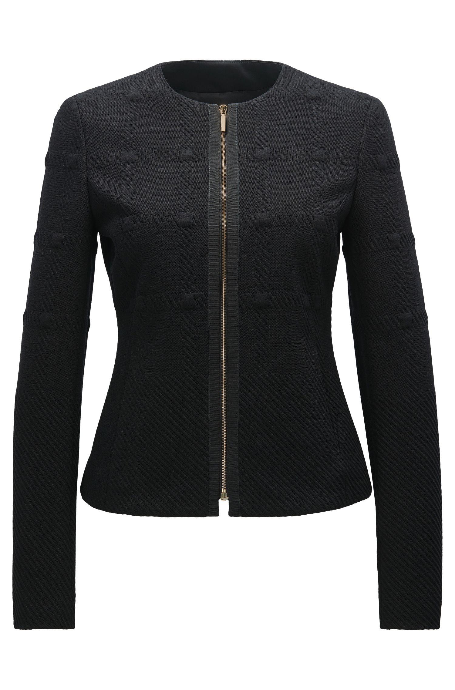 Regular-fit blazer van gestructureerde jersey