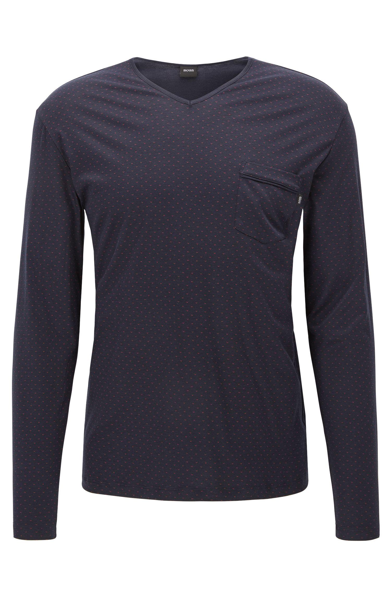 Camiseta regular fit en algodón y modal
