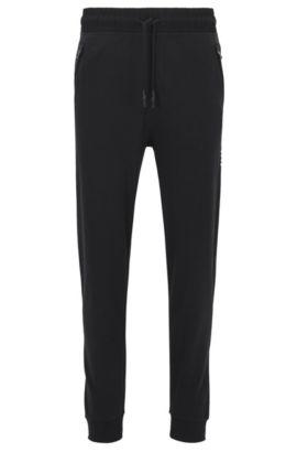 Pantalon d'intérieur en coton interlock resserré au bas des jambes, Noir