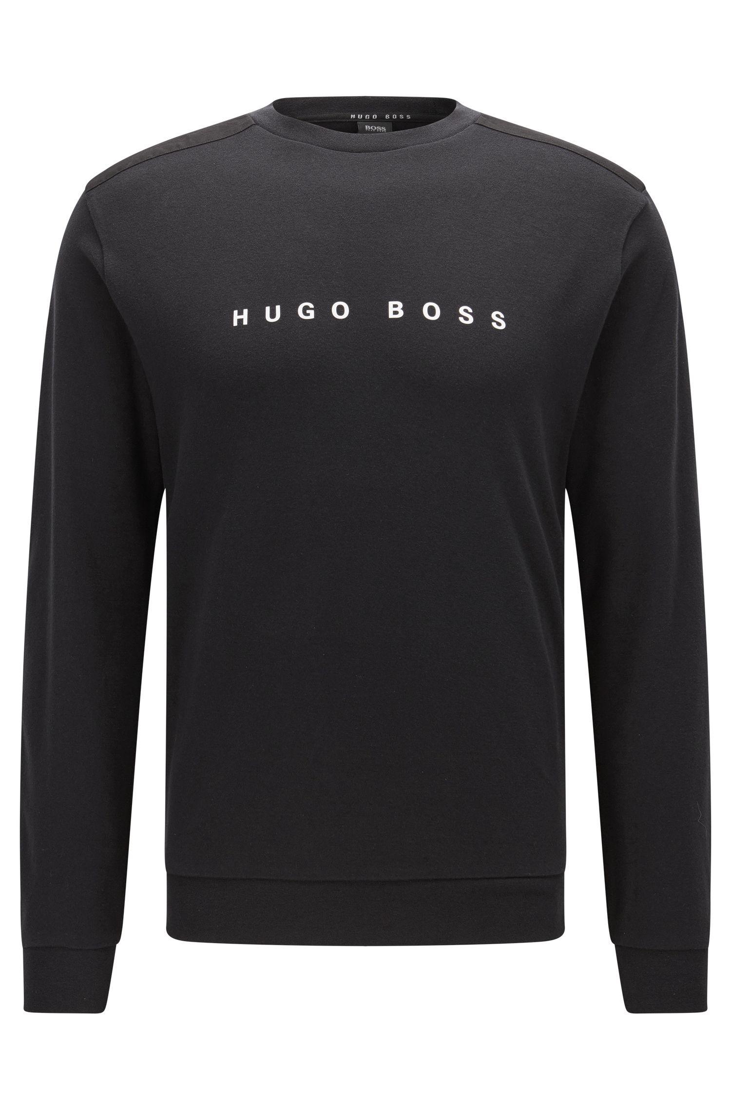 Regular-Fit Loungewear-Pullover aus Baumwolle