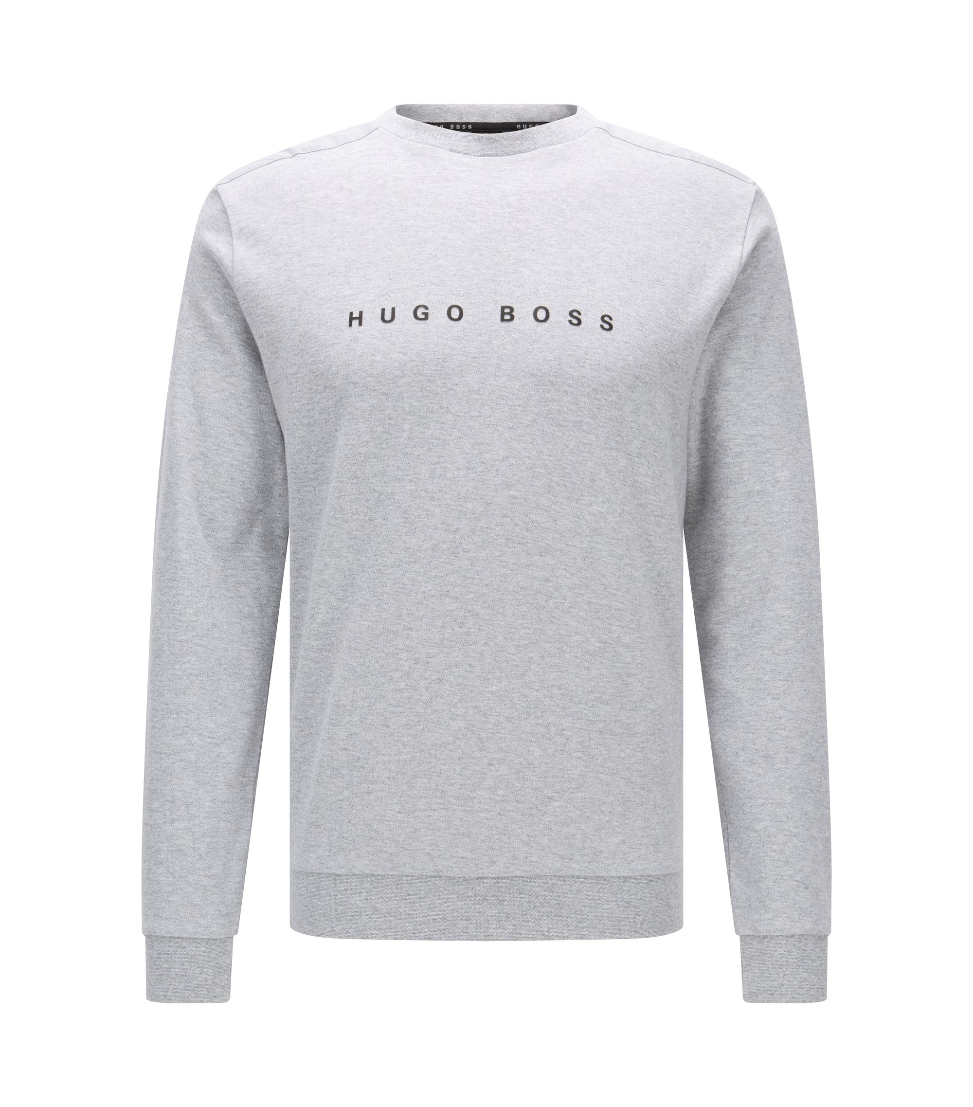 Regular-Fit Loungewear-Pullover aus Baumwolle, Grau