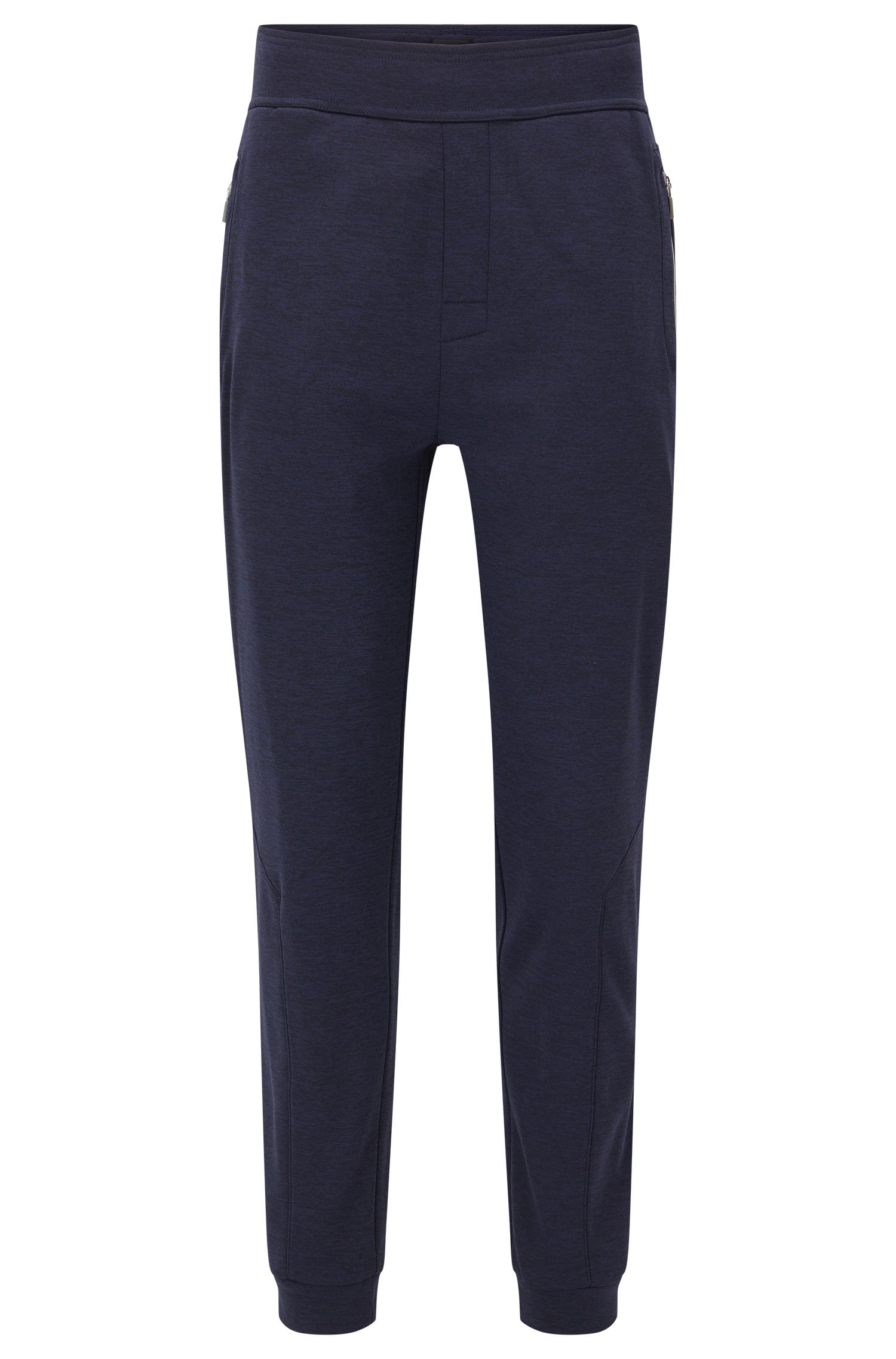 Fleece-lined loungewear trousers in technical fabric