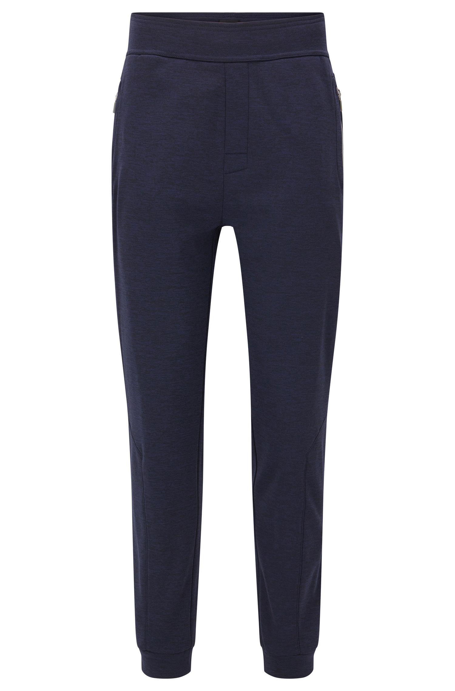 Fleece-lined loungewear trousers in technical fabric