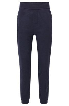 Pantalon détente en tissu technique doublé de polaire, Violet foncé