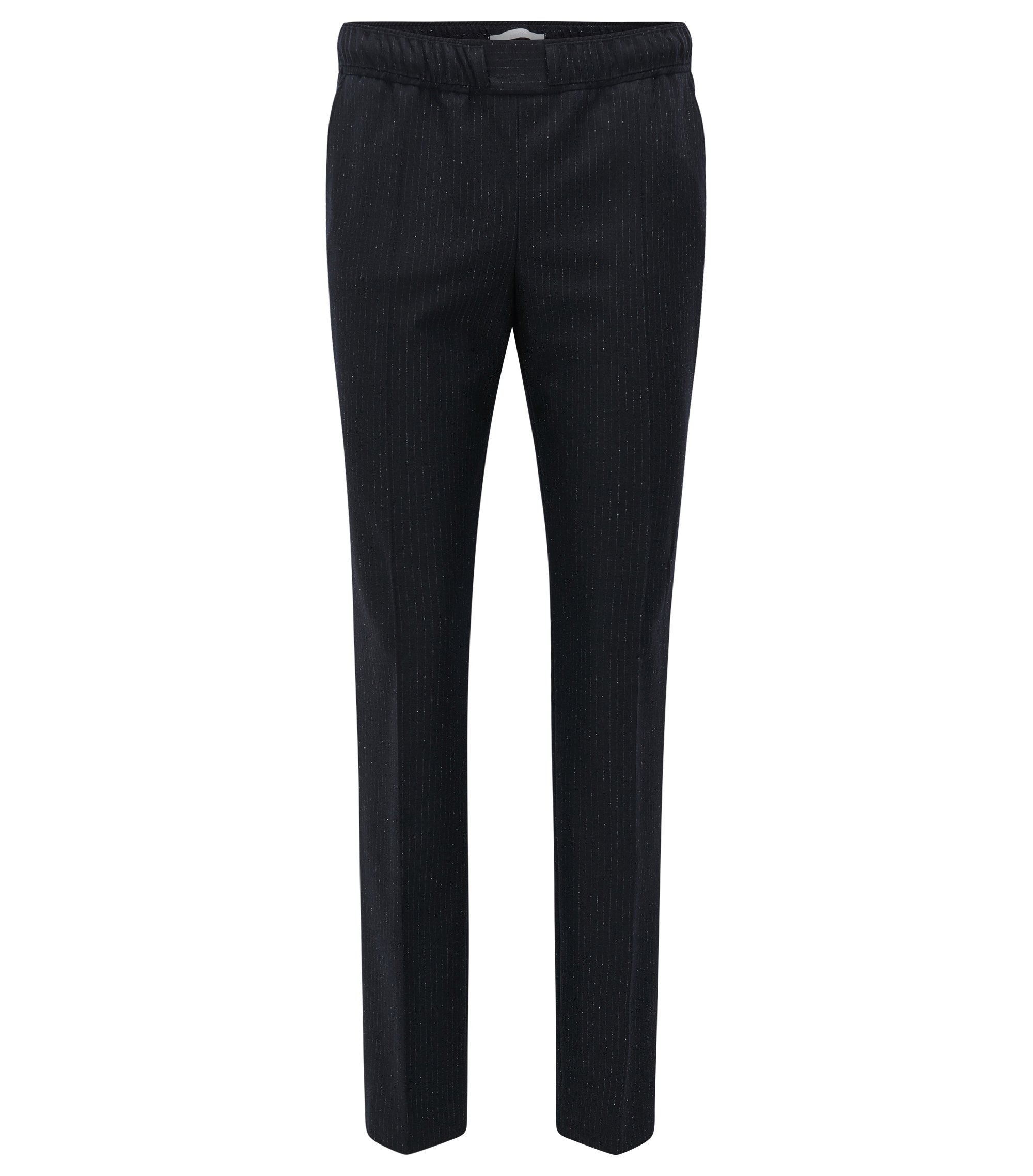 Relaxed-fit trousers in a wool mix, Patterned