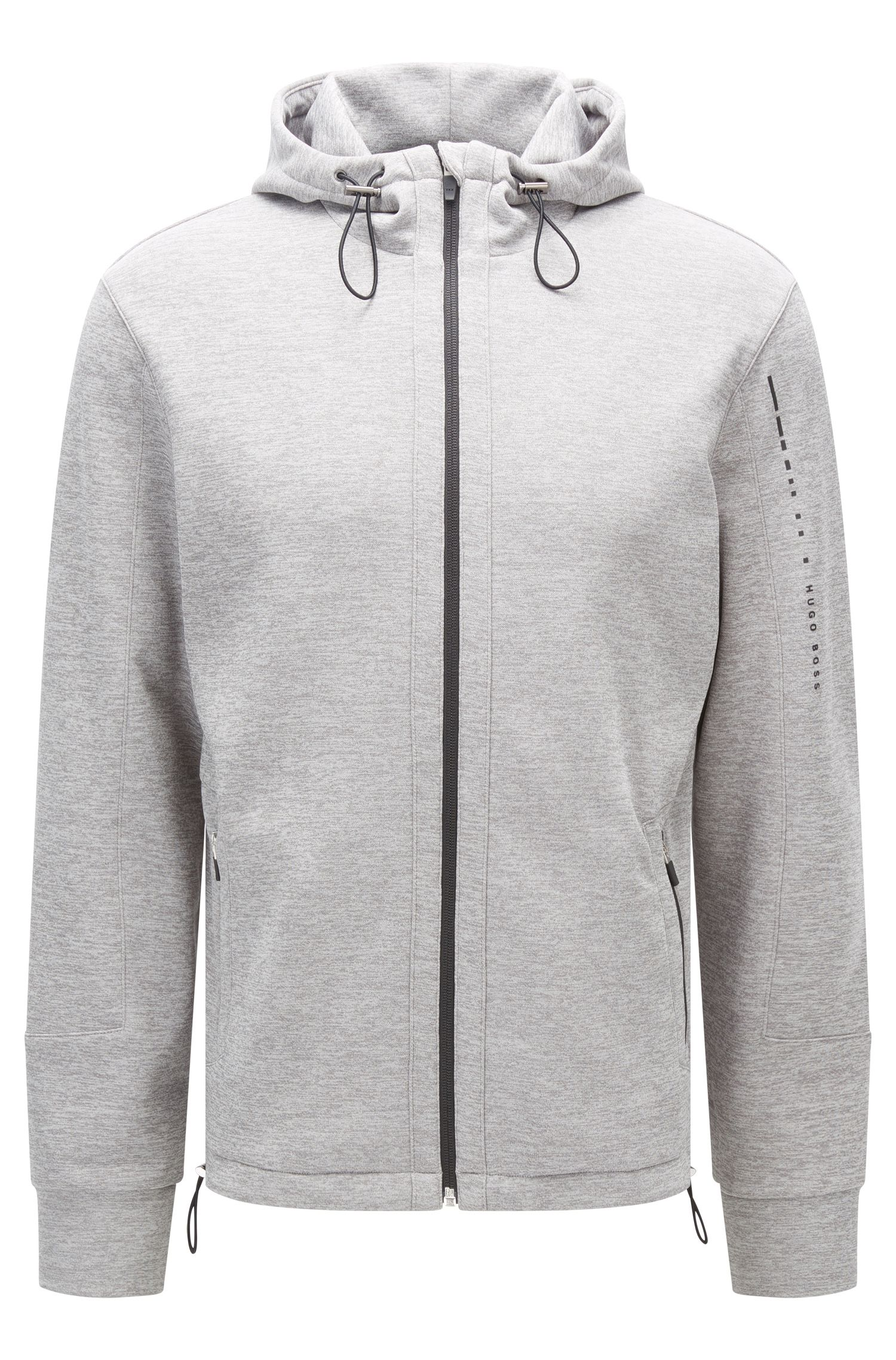 Regular-fit hooded jacket in technical fabric