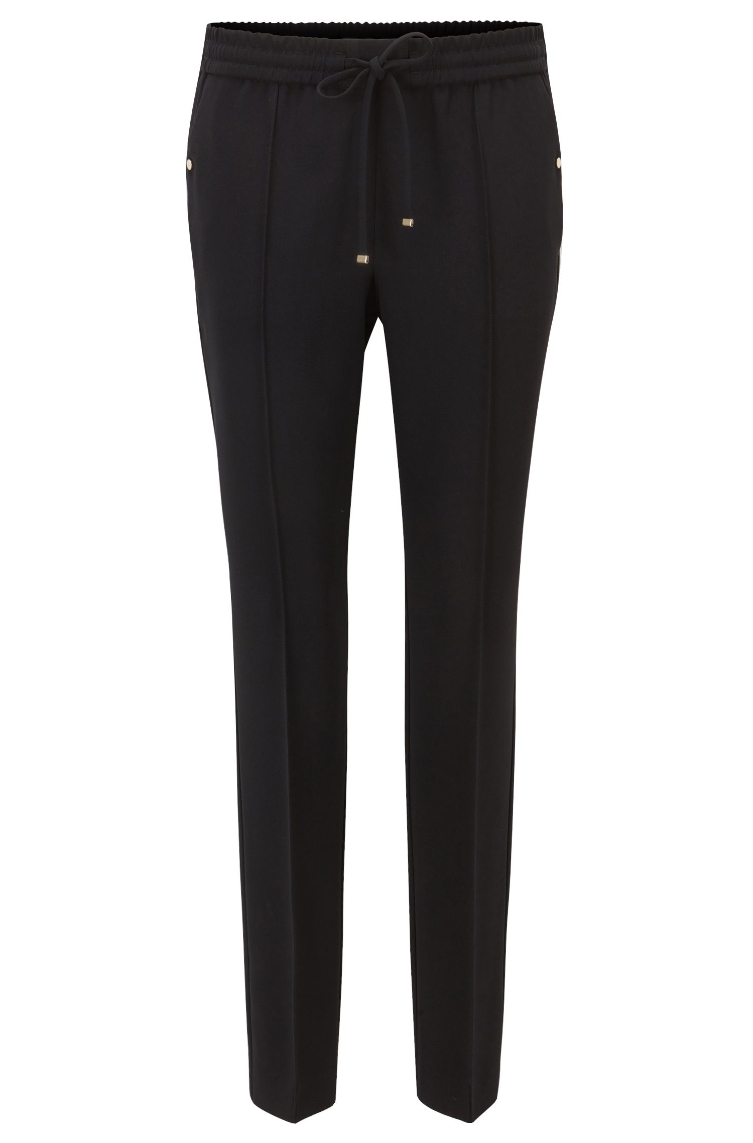Relaxed-fit trousers in technical crêpe