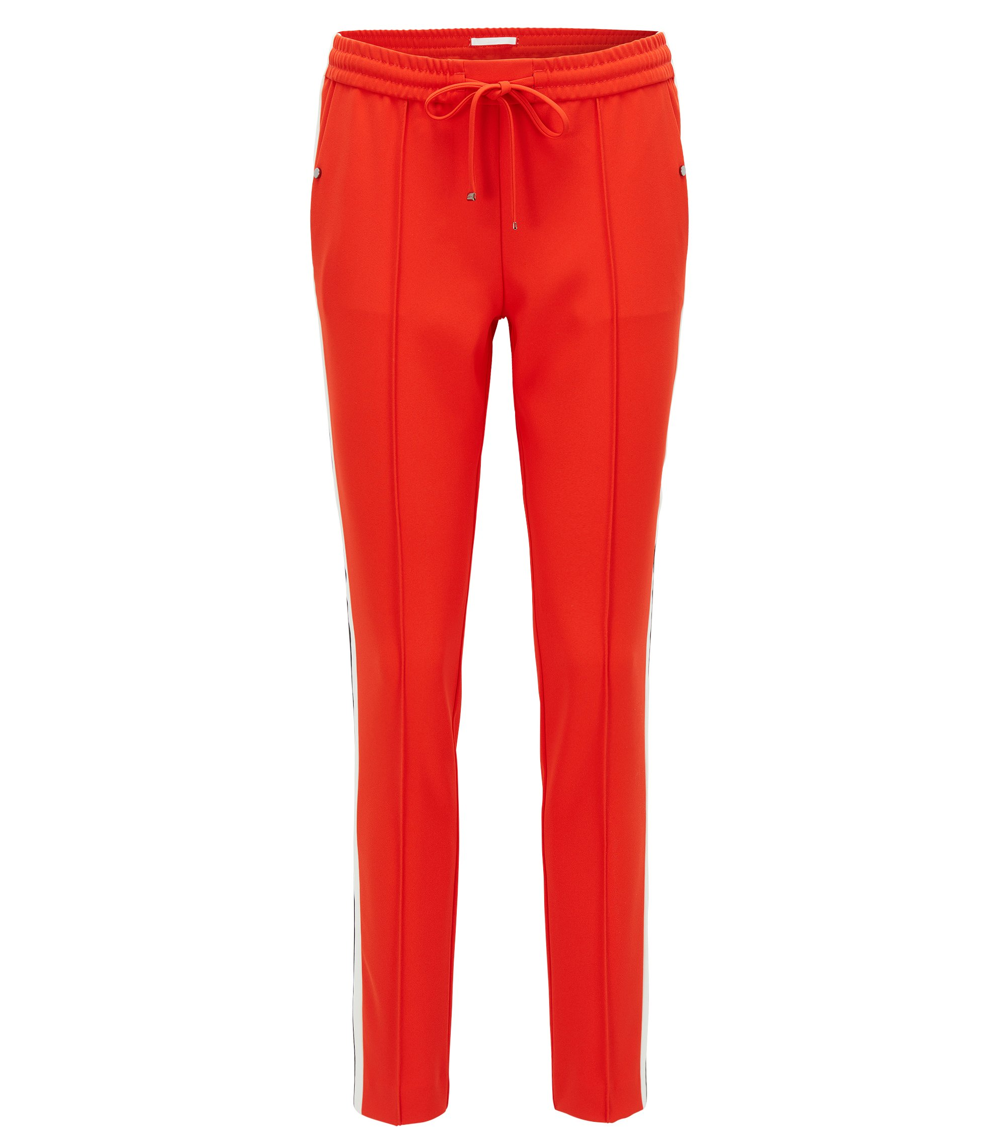 Relaxed-Fit Hose aus Funktions-Krepp, Rot